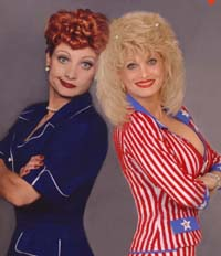 Lucille Ball and Dolly Parton Impersonator